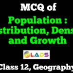 MCQ of Population Distribution Density and Growth