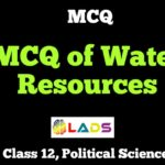 MCQ of Water Resources