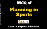 MCQ of Planning in Sports