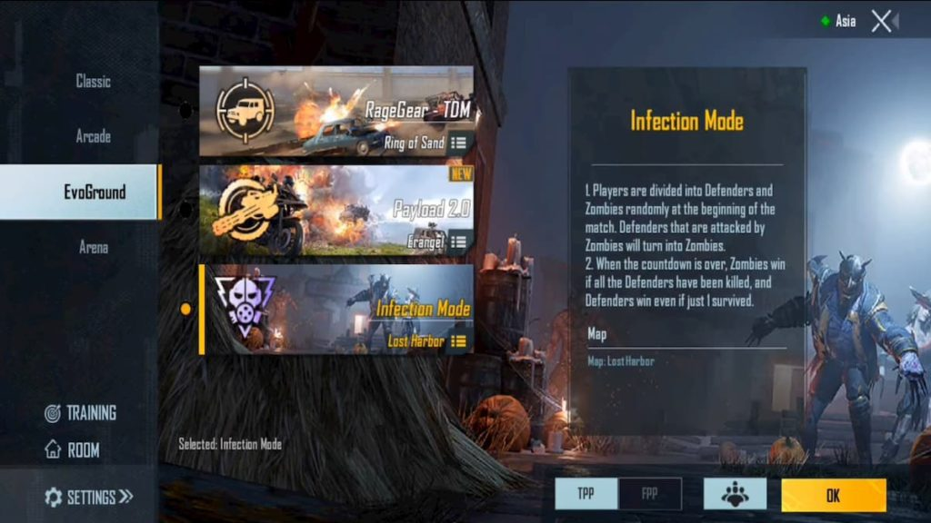 EvoGround Infection Mode in PUBG Mobile