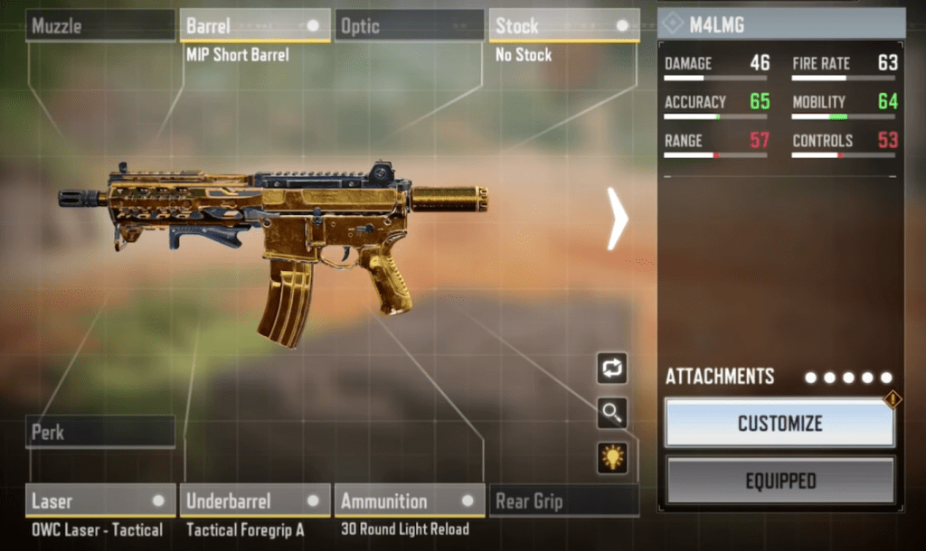 M4LMG Gunsmith Loadout and Attachments