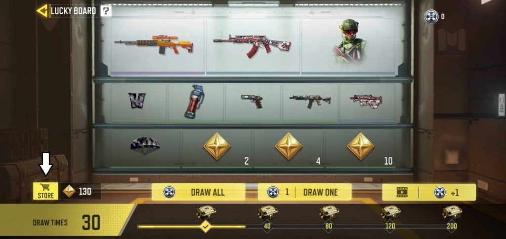 Exchange store in COD Mobile with Epic M21 EBR - Citrine