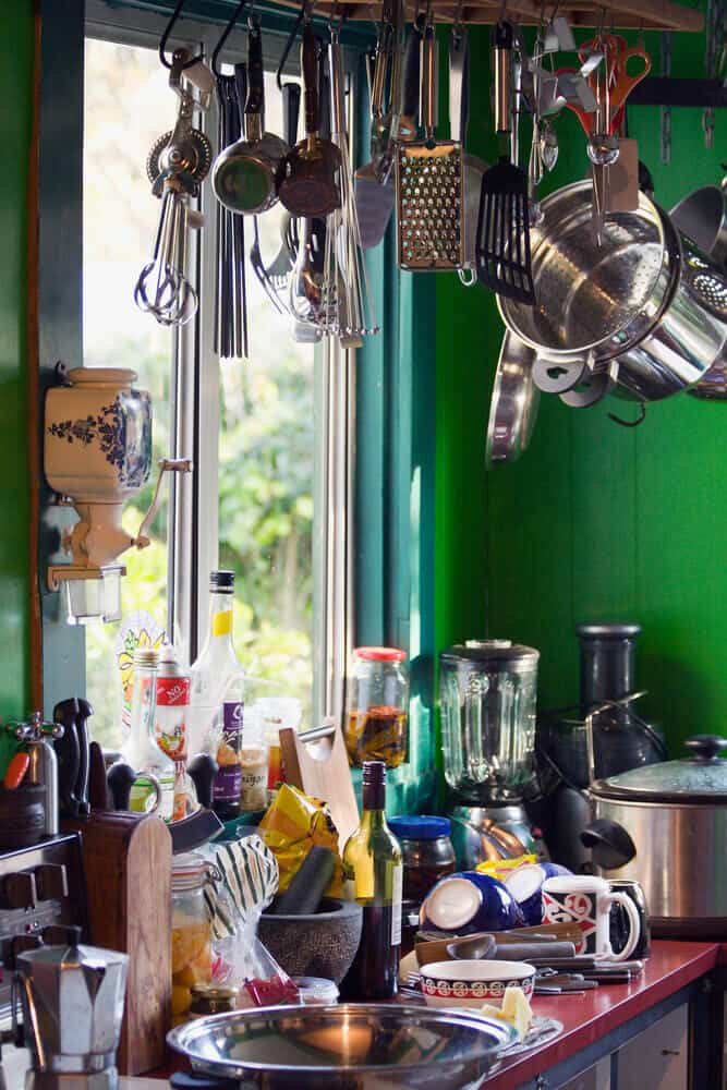 unorganized kitchen can make a house look messy