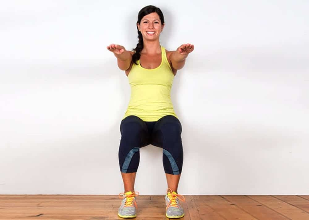 Wall Sits Exercise