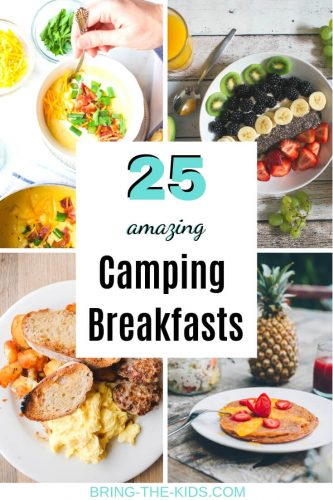 camping breakfast meals selection