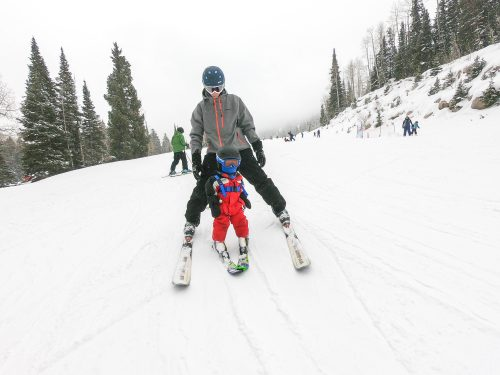 ski with baby