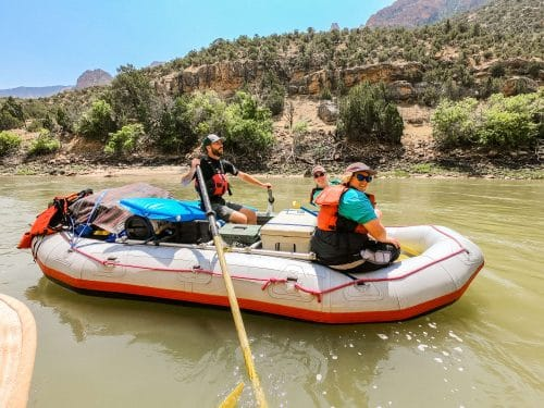 split mountain rafting with kids