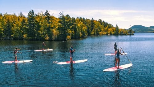 stand up paddleboard acadia with teens