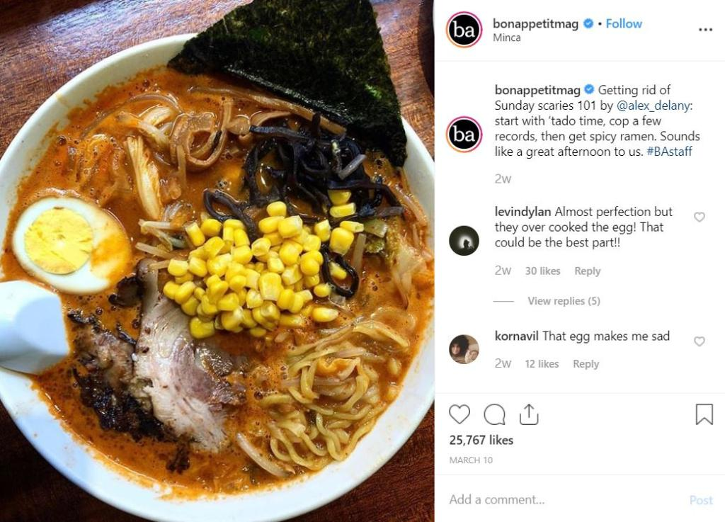 Bon Appetit: Brand Storytelling Instagram - Business Services Week UK