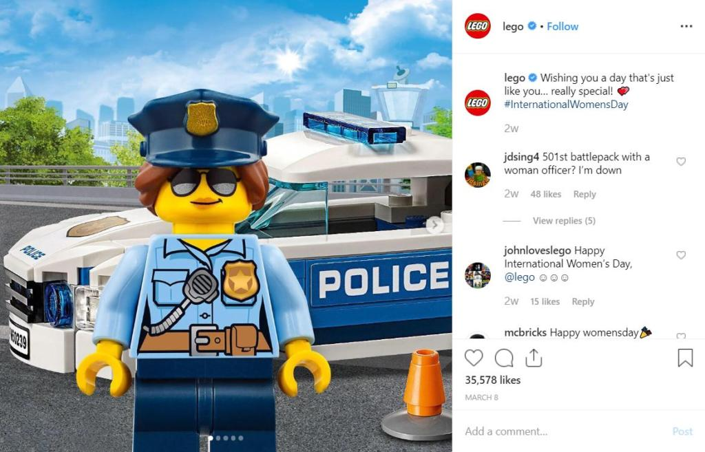 LEGO: Brand Storytelling Instagram - Business Services Week UK