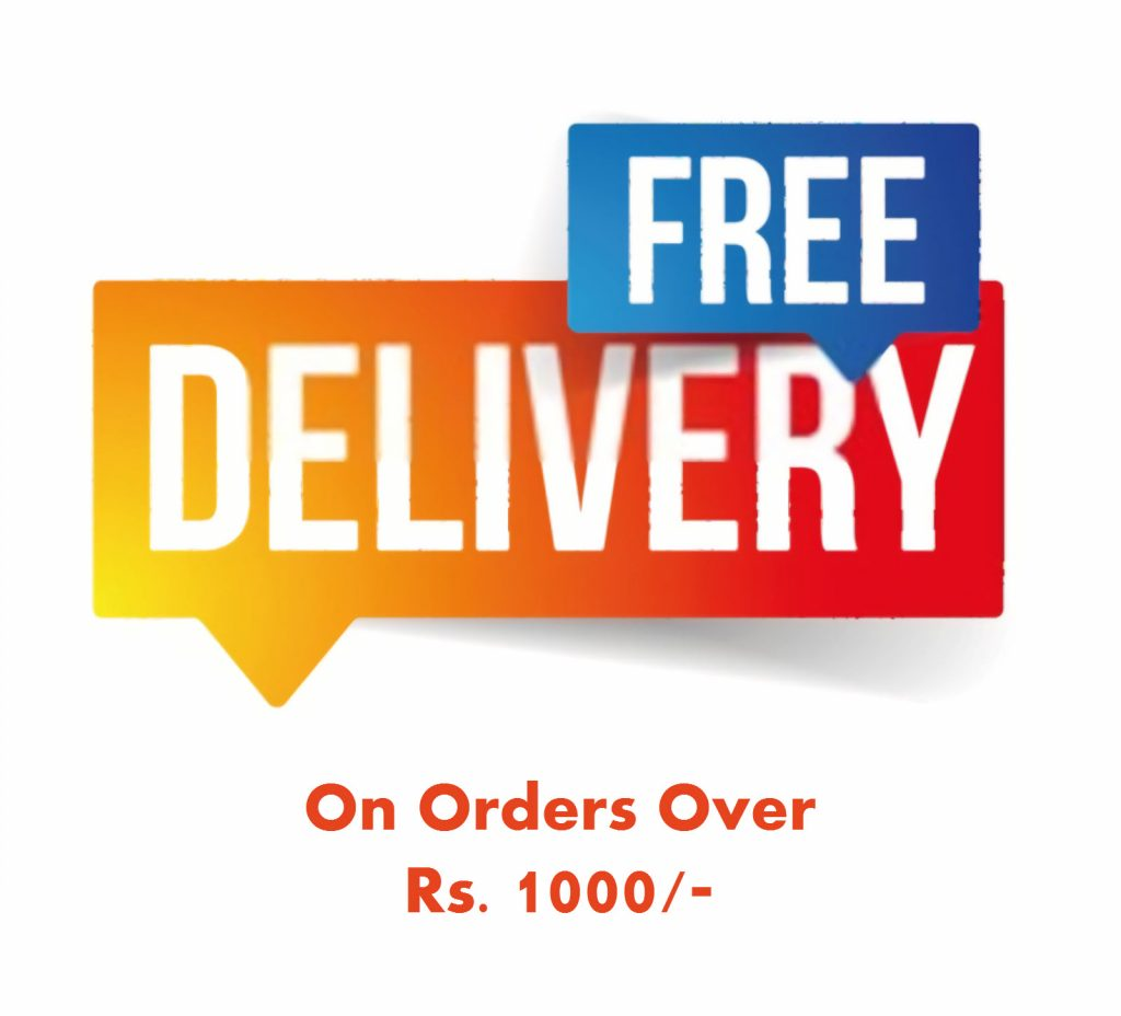 Free Delivery on Orders Above Rs 1000