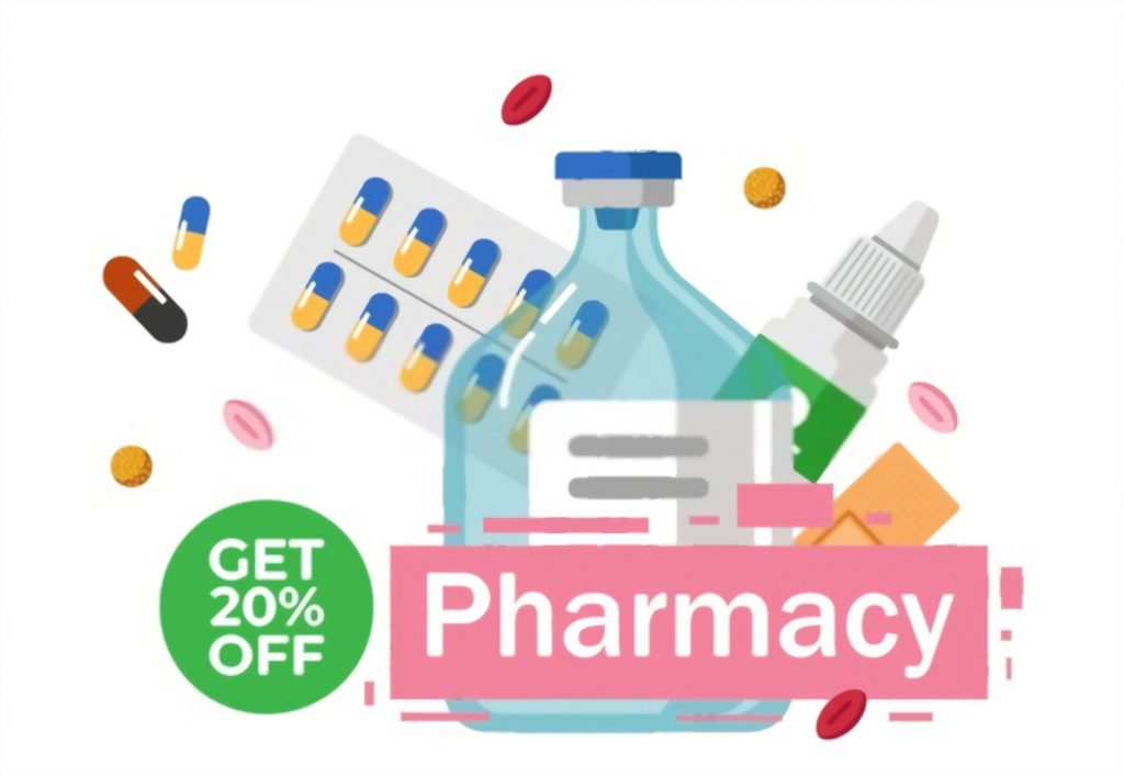 Get upto 20% on Pharmacy Products