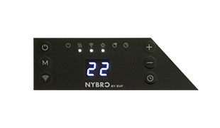 BVF NYBRO heating panel with built in thermostat