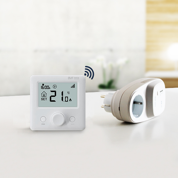 BVF 24-FA RF thermostat with mains plug