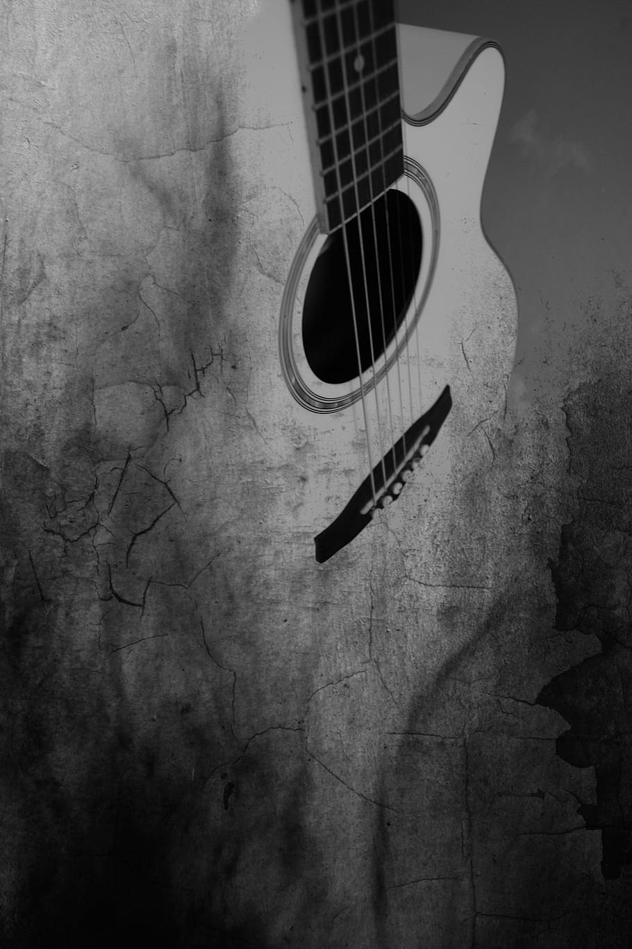 Black And White Wallpaper Guitar