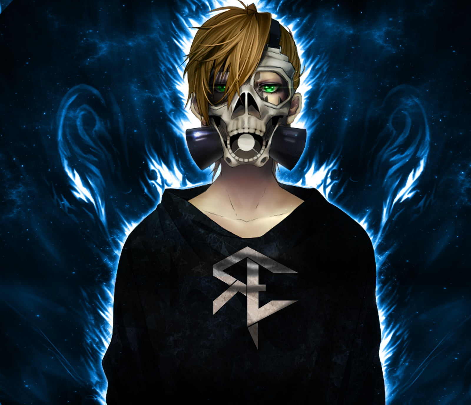 gas masks anime skull fire wallpaper 1b324397fdde142cfcdbdafddd2a955e