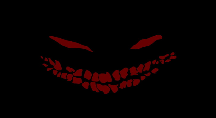 smiling nightmare dark simple background wallpaper preview