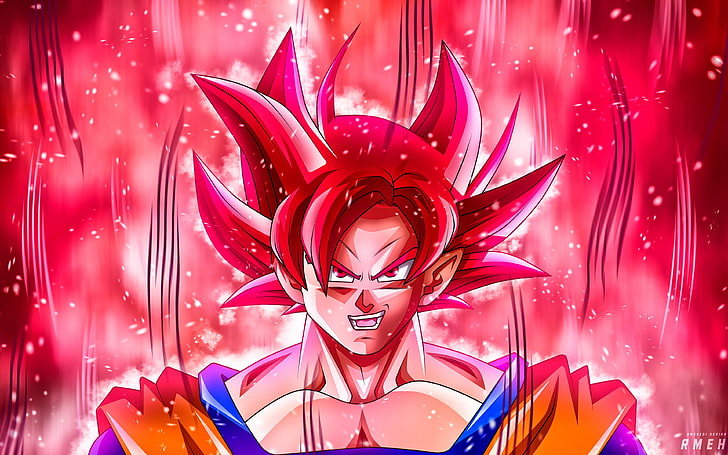 Goku Ssj Red Wallpaper