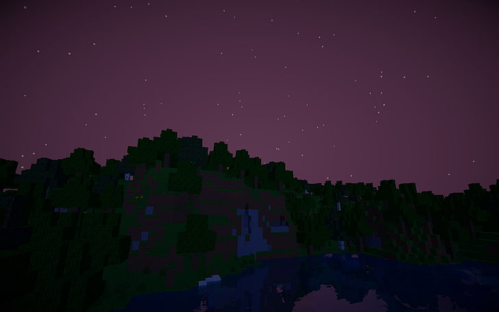 Night Time Minecraft Wallpaper