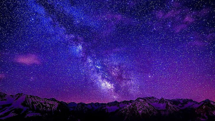 sky purple atmosphere galaxy wallpaper preview