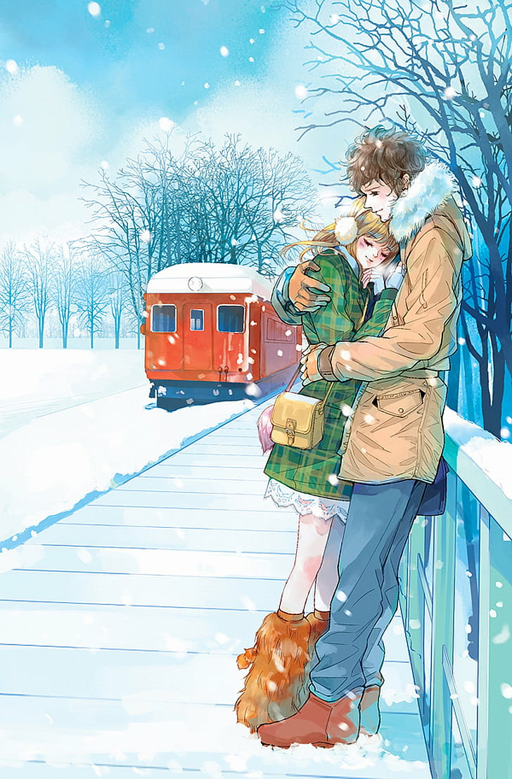 anime couple cute love wallpaper preview