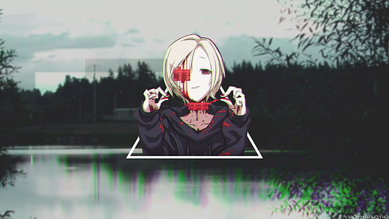 anime anime girls picture in picture glitch art wallpaper thumb