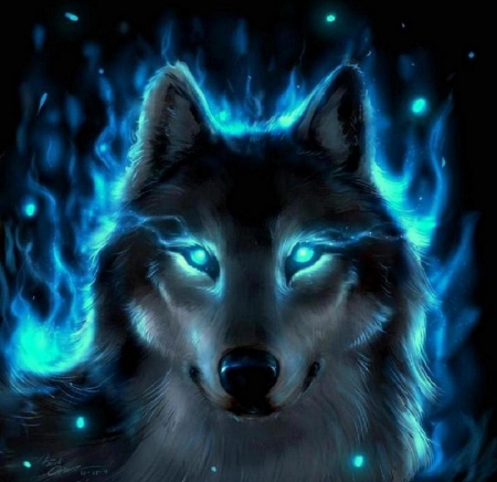 Wallpaper Cool Mystical Wolves