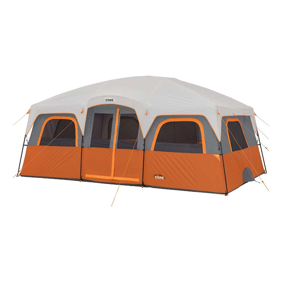 CORE 12 Person Extra Large Straight Wall Cabin Tent
