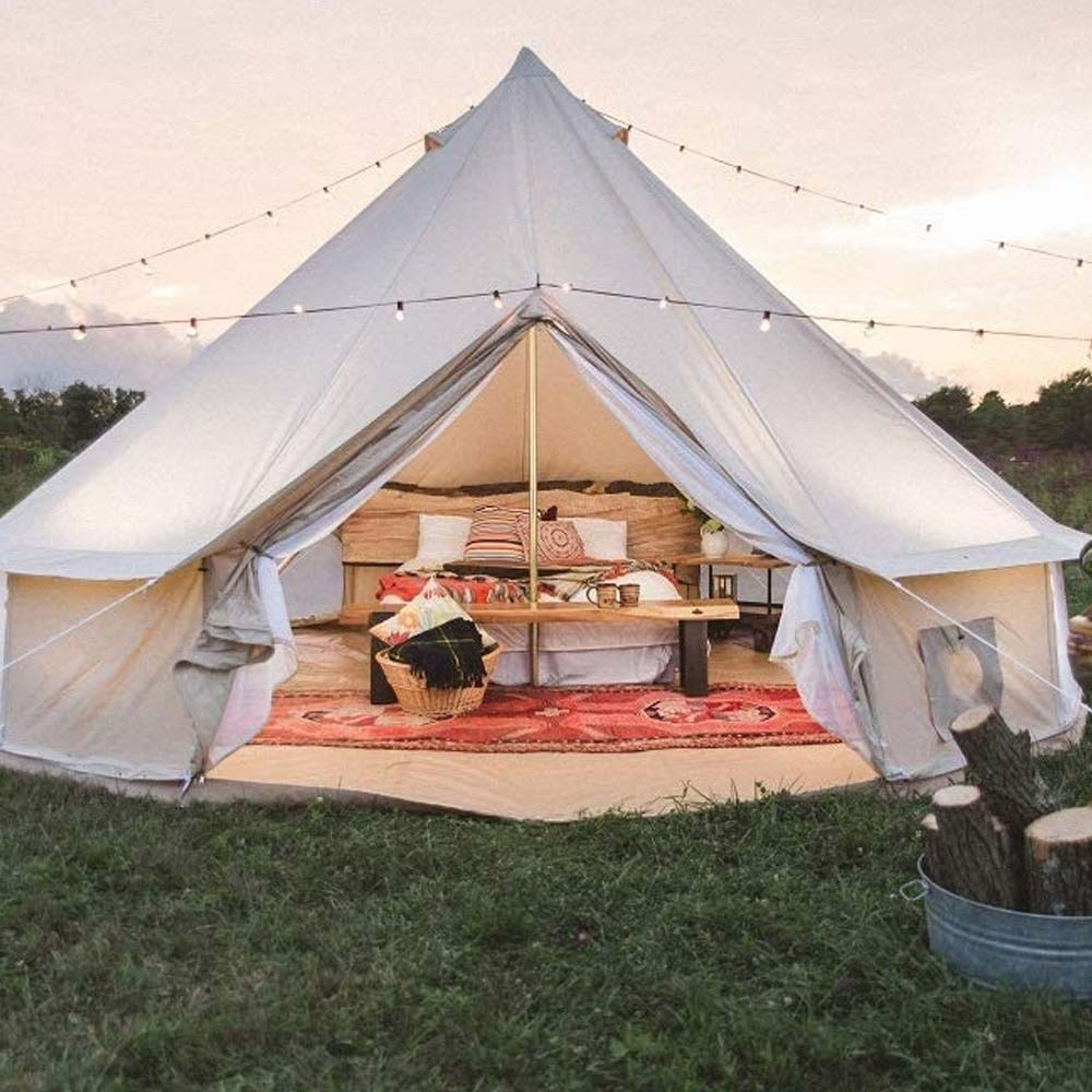 Dream House Outdoor Cotton Canvas Family Camping Bell Tent