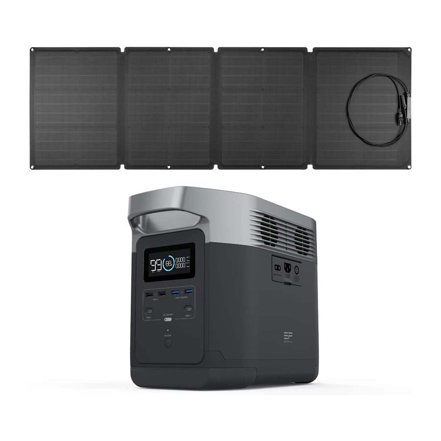 EF ECOFLOW Portable Power Station EFDELTA 1260Wh with 110W Solar Panel
