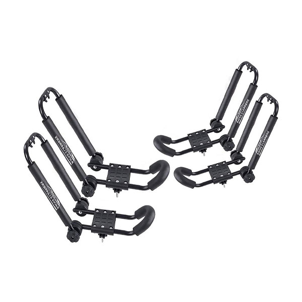 Rooftop Universal Canoe and Kayak Carrier Car Roof Rack Set