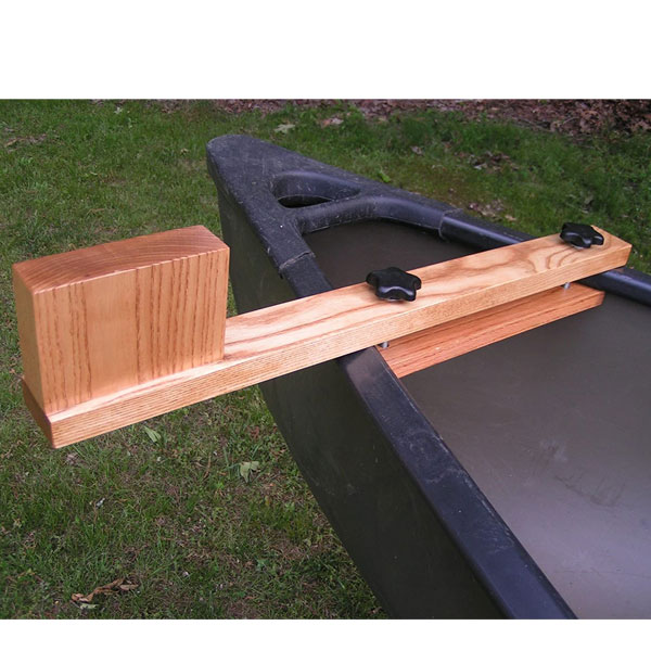Top Quality Canoe Trolling Motor Mounting Bracket with Natural Ash Finish