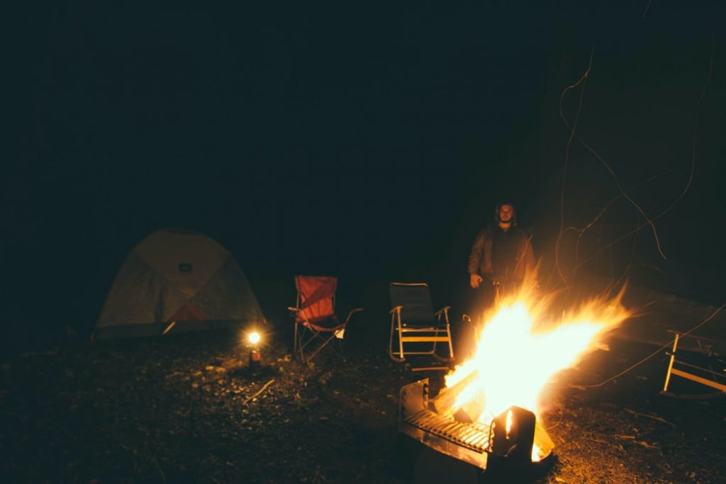 How to stay warm while camping in a tent