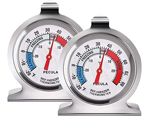 2 Pack Refrigerator Thermometer