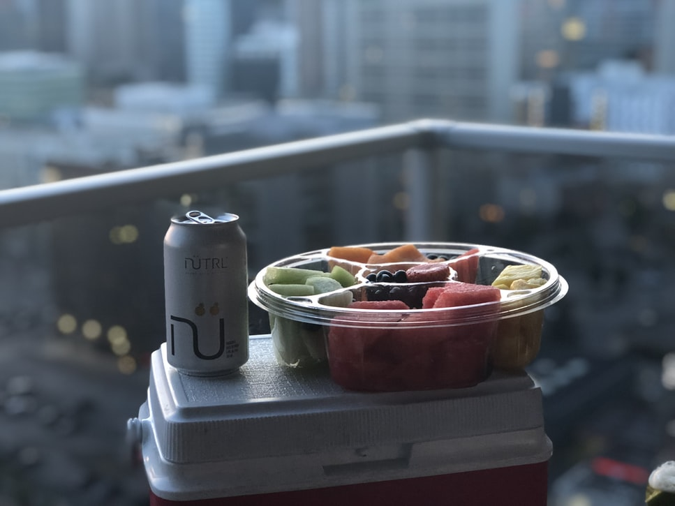 Keep Fruits in tupperware to save space in cooler