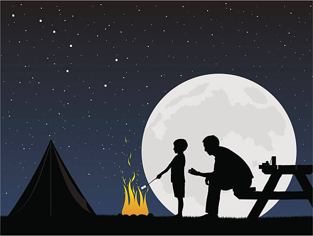 Cooking while camping with kids