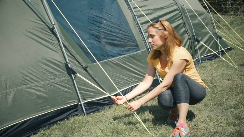 Setting Up Tent Guy lines