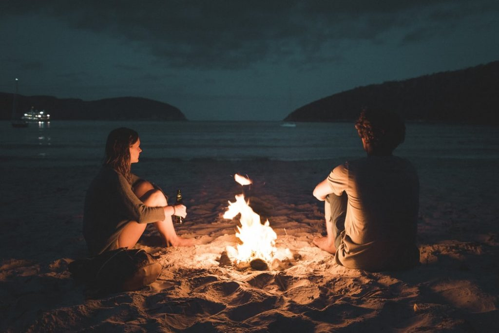 Camping with couple