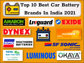 Top 10 car battery brands in India 2021
