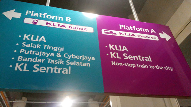 KLIA Express, the fastest way to KL Sentral :D