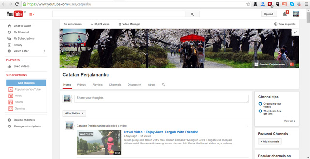 Akun Youtube catperku