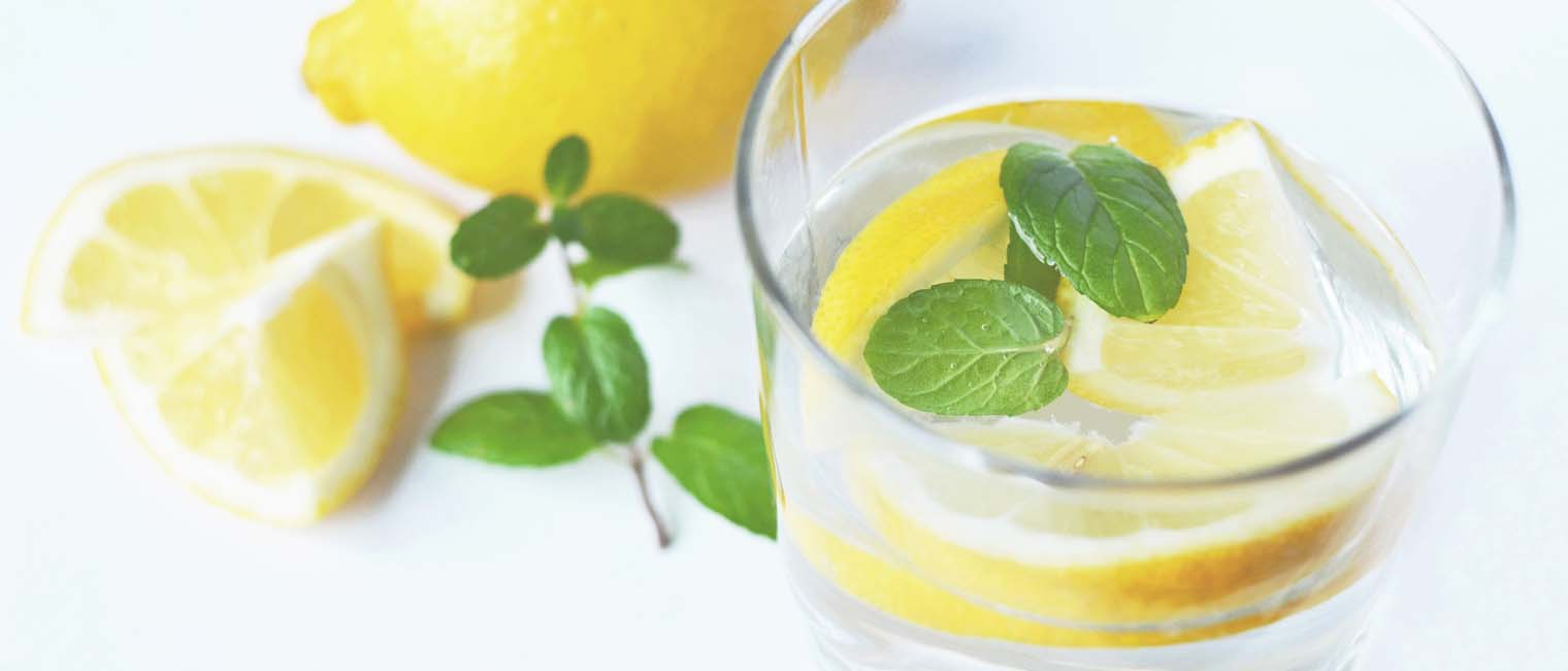 lemon soaked in water containing a lot of vitamin C