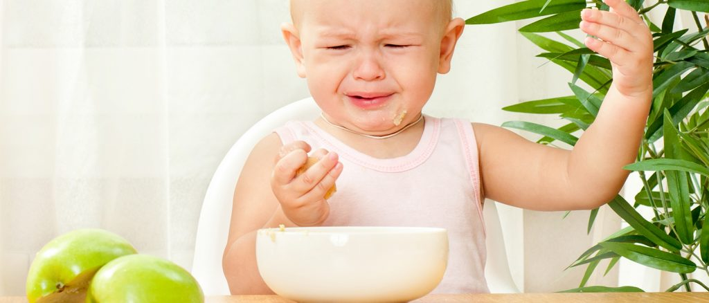 toddler not happy with food