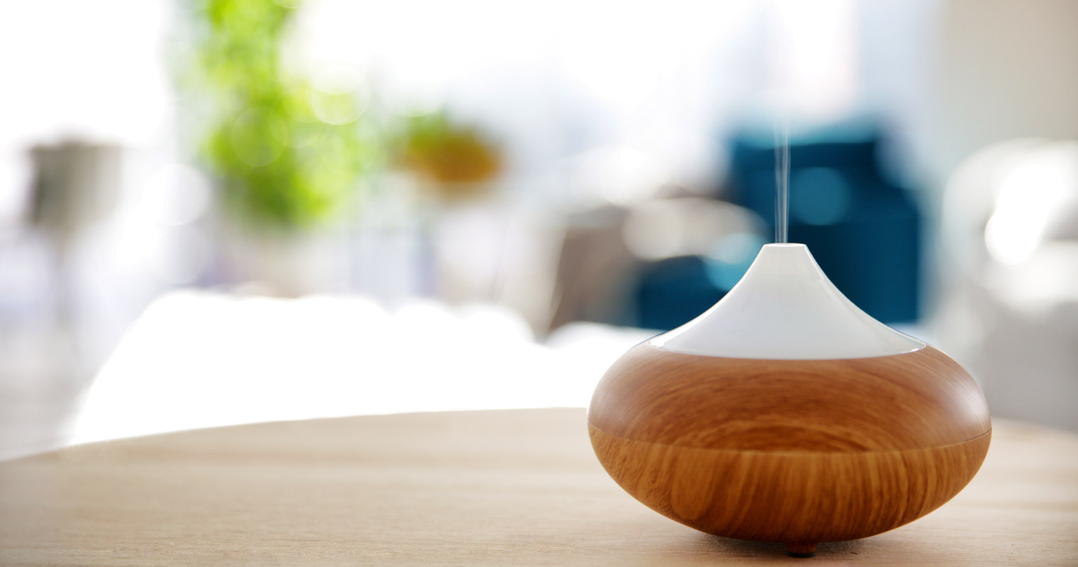 placing a diffuser in the room