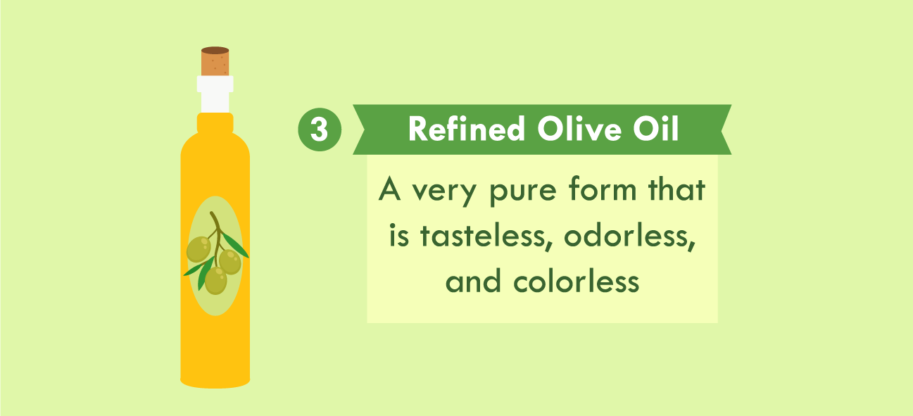 illustration of refined olive oil