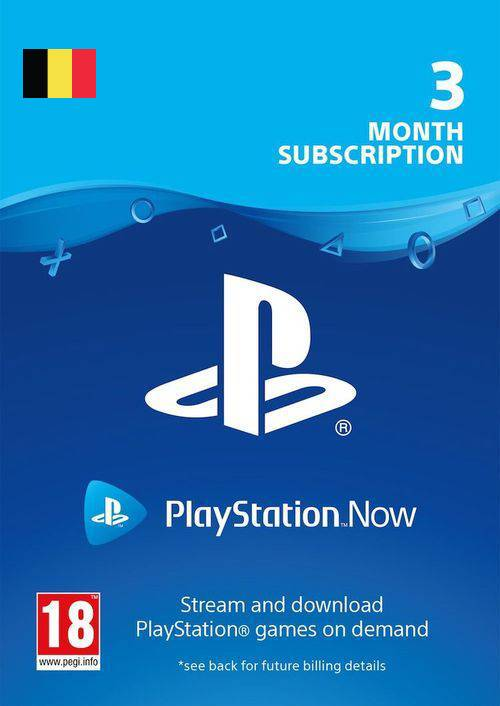 Playstation Now - 3 Month Subscription (Belgium)