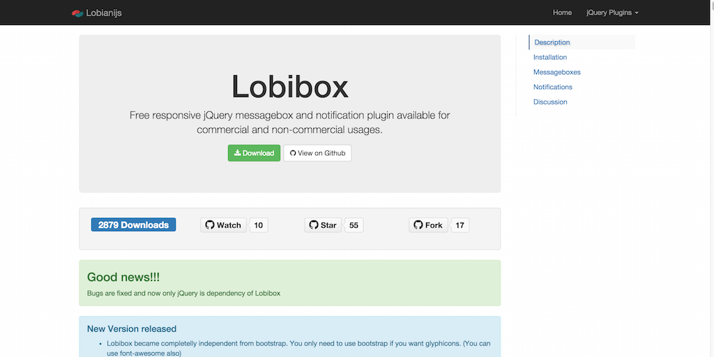 Lobibox Free responsive jQuery messagebox and notification plugin
