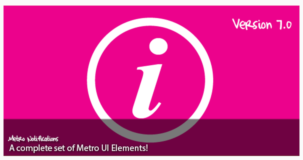Metro Notifications JavaScript CodeCanyon