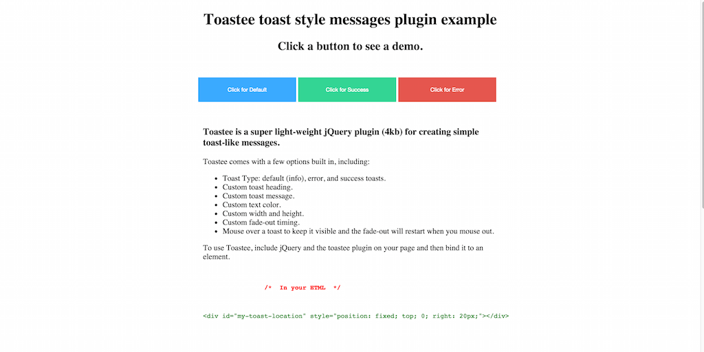 Toastee Plugin Example