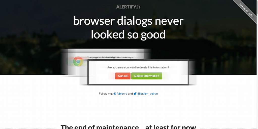 alertify.js browser dialogs never looked so good